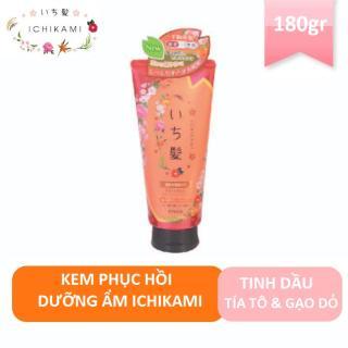 Kem phục hồi tóc Ichikami dưỡng ẩm 180g date T8/2021