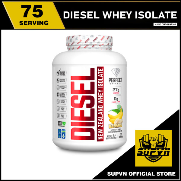 DIESEL NEW ZEALAND WHEY PROTEIN ISOLATE 5LBS - SỮA TĂNG CƠ SIÊU TINH KHIẾT PERFECT SPORTS