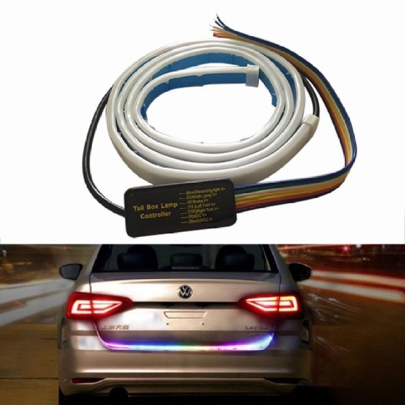 Dải đèn nhiều màu RGB cho xe hơi xe tải, Đèn Led Dây lắp đèn tín hiệu rẽ, đèn đuôi, đèn cốp, đèn phanh 120cm
