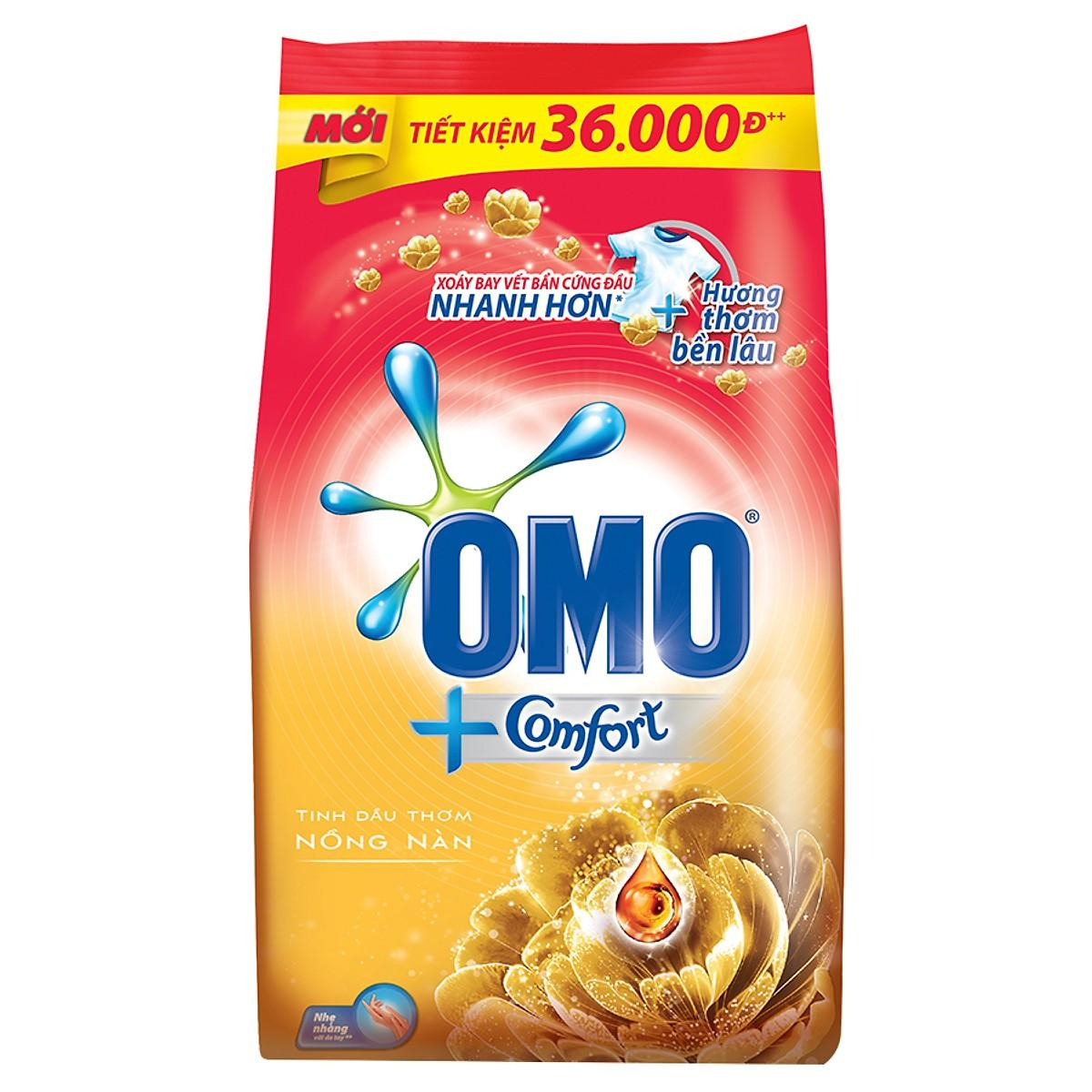 Bột Giặt Omo Comfort Tinh Dầu Thơm Nồng Nàn (4kg) Cùng Giá Khuyến Mãi Hot