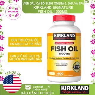 [ CHÍNH HÃNG ] Thực phẩm bảo vệ sức khỏe Viên dầu cá Kirkland Signature Fish Oil 1000mg từ Mỹ, bổ sung Omega-3, DHA và EPA - 400 Viên thumbnail