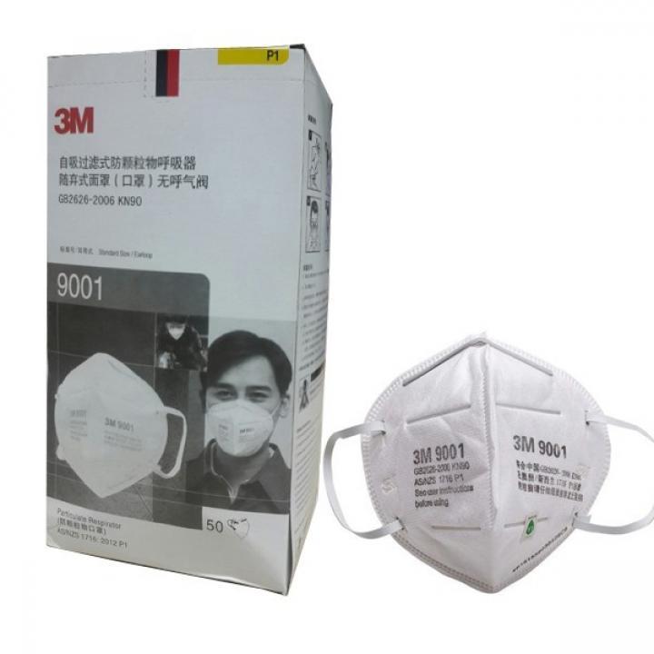 Hộp 50 cái khẩu trang 3M 9001 chống bụi mịn , lọc mùi hôi kháng khuẩn ô nhiễm khi ra đường