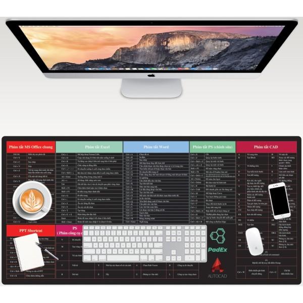 Bảng giá Miếng Lót chuột in phim tắt Excel, MS-Office, Photoshop, Autocad, Pad MOUSE - Lót Chuột Chơi Game Ngoại Cỡ Bàn Phím, Các Phím Tắt Chuột Pad -  Tấm Để Bàn Lớn Chống Trượt Chống Nước Cho Văn Phòng Máy Tính, 30 X 80 CM Phong Vũ