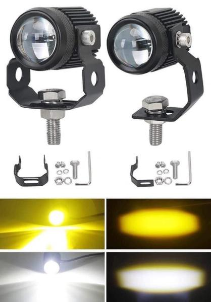 Trợ sáng mini Driving light sáng vàng trắng 2 chức năng Giá 1 Cái
