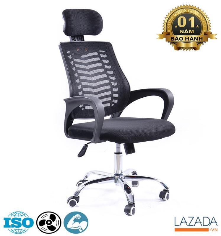 Ghế xoay văn phòng tựa đầu BOX-410 [Ngồi Làm Việc Chưa Bao Giờ Thoải Mái Đến Thế] giá rẻ