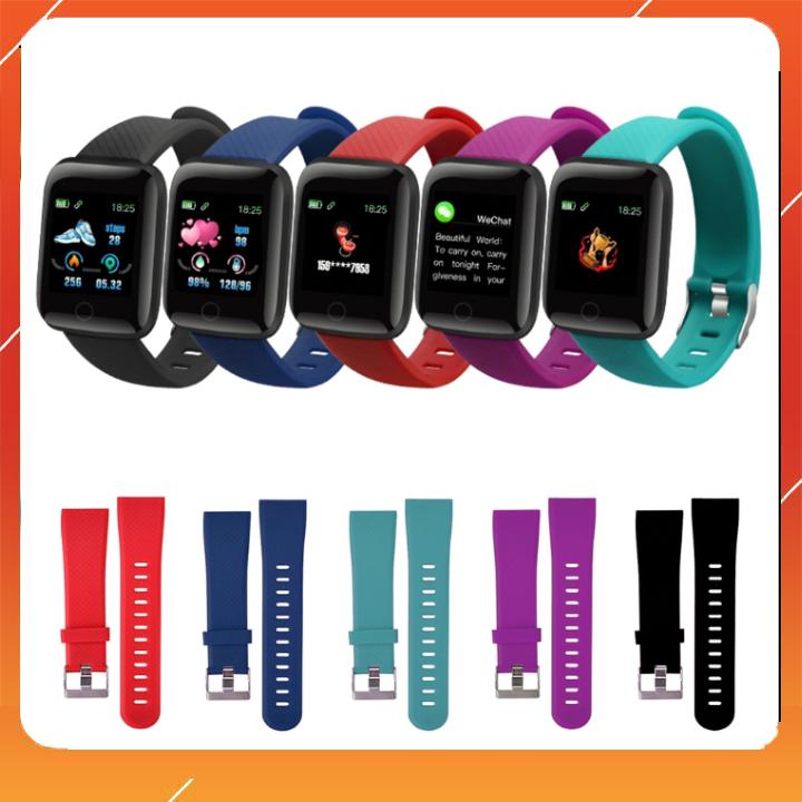Dây đeo thay thế đồng hồ thông minh 116 Plus, D13 Plus, Y68. Chất liệu Silicon cao cấp mềm mại, thiết kế nguyên bản