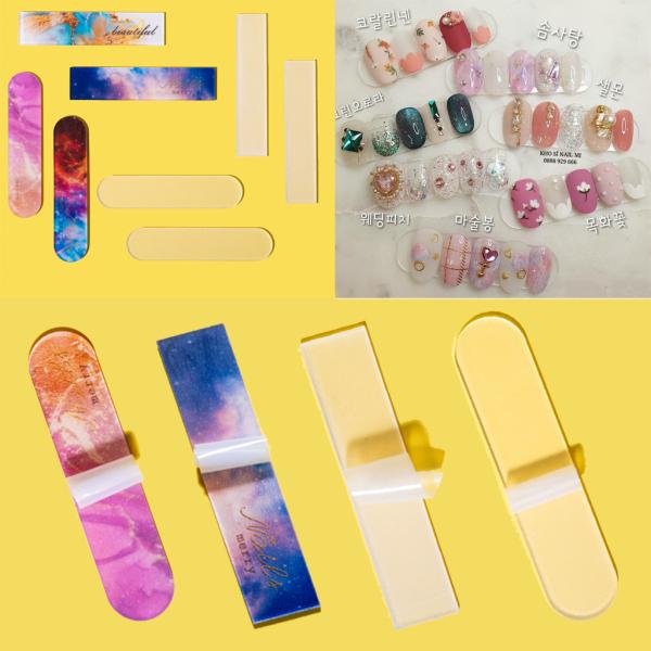 Set 10 thanh trưng bày mẫu nail Hàn Quốc đẹp - 1 thanh dán được 5 móng giá rẻ