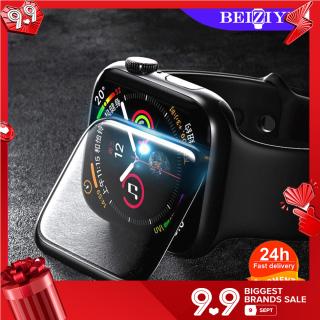 Kính cường lực cong 3D cho đồng hồ thông minh cho Apple Watch Series 6 SE 5 4 3 2 1 38mm 40mm 42mm 44mm BẢO VỆ MÀN HÌNH thumbnail