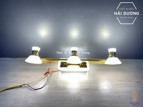 Đèn soi tranh - Đèn rọi gương Led 3 Đèn chiếu sáng 7475-3 - Điều chỉnh góc chiếu - 3 Chế độ ánh sáng