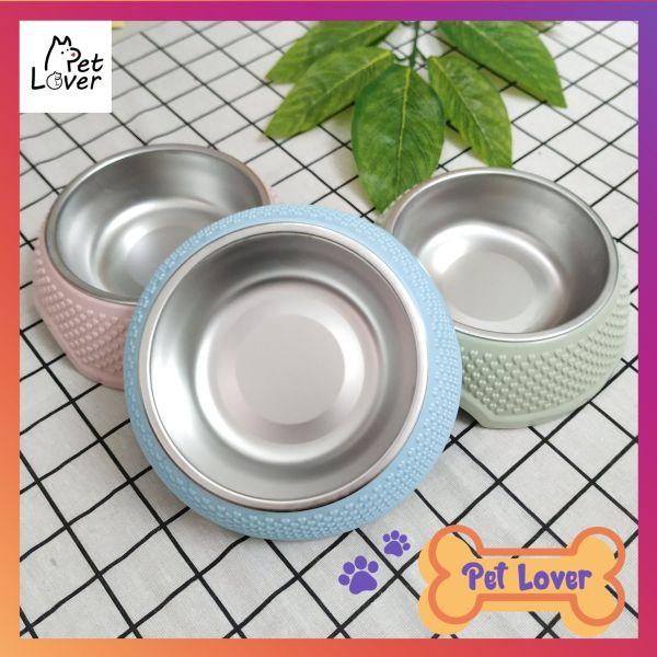 Bát ăn cho chó, bát ăn cho mèo, bát ăn inox cho chó mèo, khay inox tháo rời, dễ dàng vệ sinh, chất liệu nhựa bền, màu sắc cute – Mã BABS90 - Petlover