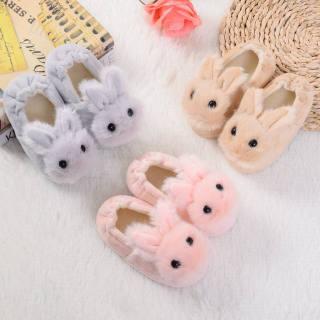 giày Dép Mùa Đông Cho Bé Dép Thỏ Hoạt Hình Dễ Thương Cho Bé Trai Bé Gái Mới 2020 Giày Lông Ấm Trong Nhà Cho Trẻ Em Giày Sàn Nhà