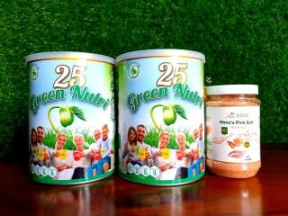 HOT Combo 2 Lon Sữa Hạt 25 Green Nutri + Tặng Kèm 1 Lọ Muối Hồng Hymalayan Hima s 500gr thumbnail