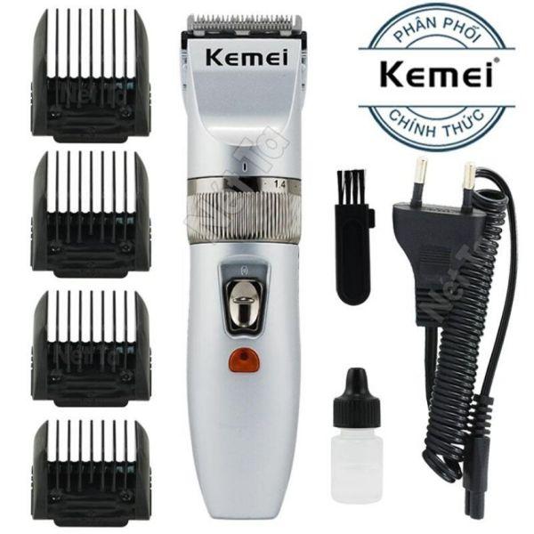 Tông đơ cắt tóc KEMEI - tặng 4 cữ cắt tóc + 1 bình dầu + 1 chổi vệ sinh + 1 dây sạc - CẮT ĐƯỢC 2 TIẾNG LIÊN TỤC - LƯỠI SẮC- MÁY ĐẦM - KHÔNG ỒN- CẨM RẤT CHẮC TAY - TÔNG ĐƠ CẮT TÓC cao cấp