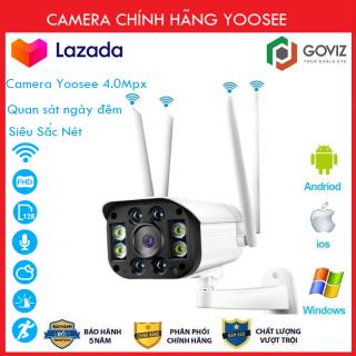 ( TÙY CHỌN Thẻ 32 64 128GB BH 60 Tháng ) Camera Wifi 3.0 Ngoài Trời - Trong Nhà Yoosee Goviz 4 Râu 3.0 Mpx Full Hd 1080P, Hỗ Trợ 4 Đèn Hồng Ngoại Và 4 Đèn Led thumbnail