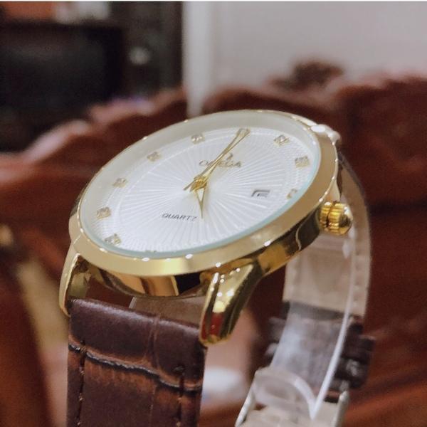 đồng hồ nam o.m.e.g.a viền vàng sang trọng bán chạy
