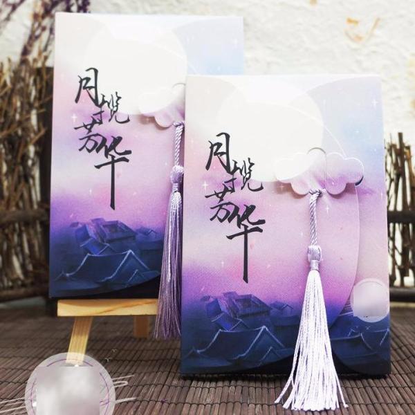 Hộp ảnh Postcard dạ quang cổ trang in phong cảnh đẹp quà tặng trang trí