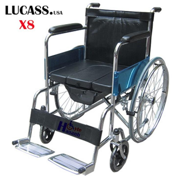Xe lăn có bô vệ sinh Lucass X8 chính hãng