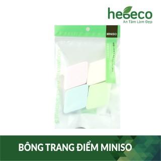 Set 4 miếng mút trang điểm tiện lợi hinh thoi miniso, cam kết hàng đúng mô tả, chất lượng đảm bảo an toàn đến sức khỏe người sử dụng thumbnail