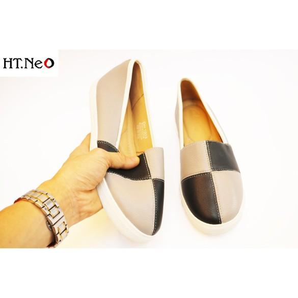 Giày Bệt Nữ Da Bò Thật Trẻ Chung Cực Êm Chân (Nu112-01-De) giá rẻ