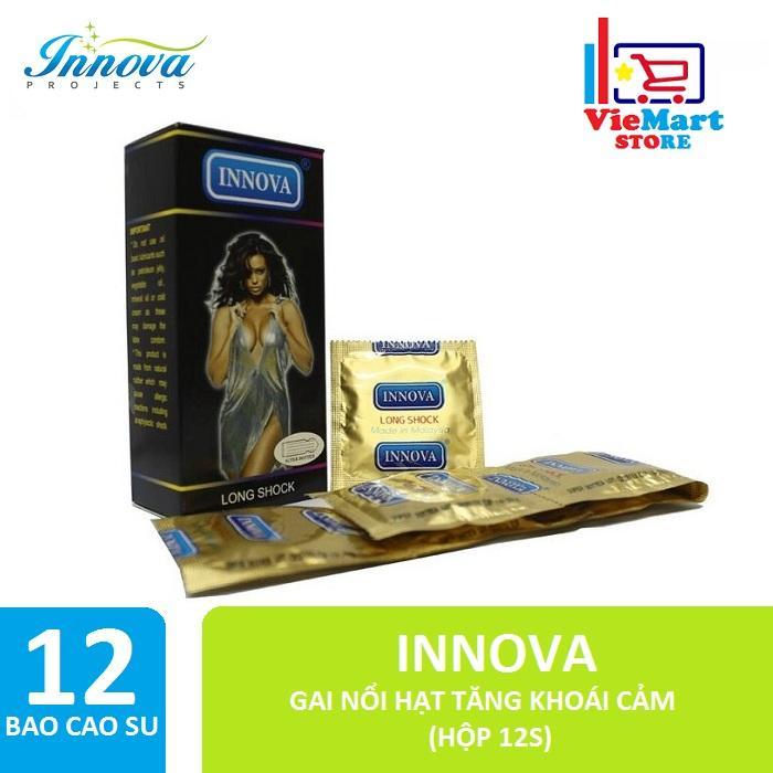 Bao cao su Innova 12s (Đen - Gai) - Hãng phân phối chính thức