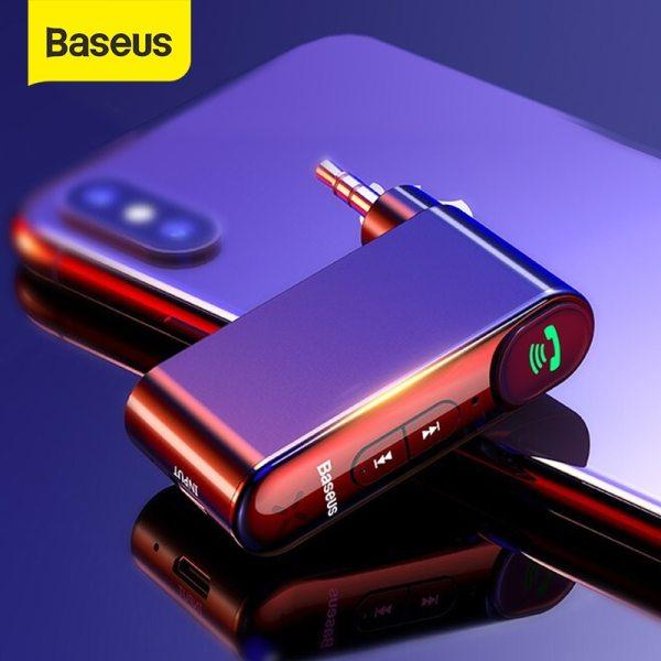 Bộ thu Bluetooth trên ô tô Baseus AUX Jack 3.5MM Âm thanh Âm nhạc Bluetooth 5.0 trên ô tô Bộ loa rảnh tay không dây Bluetooth âm thanh nổi trên ô tô
