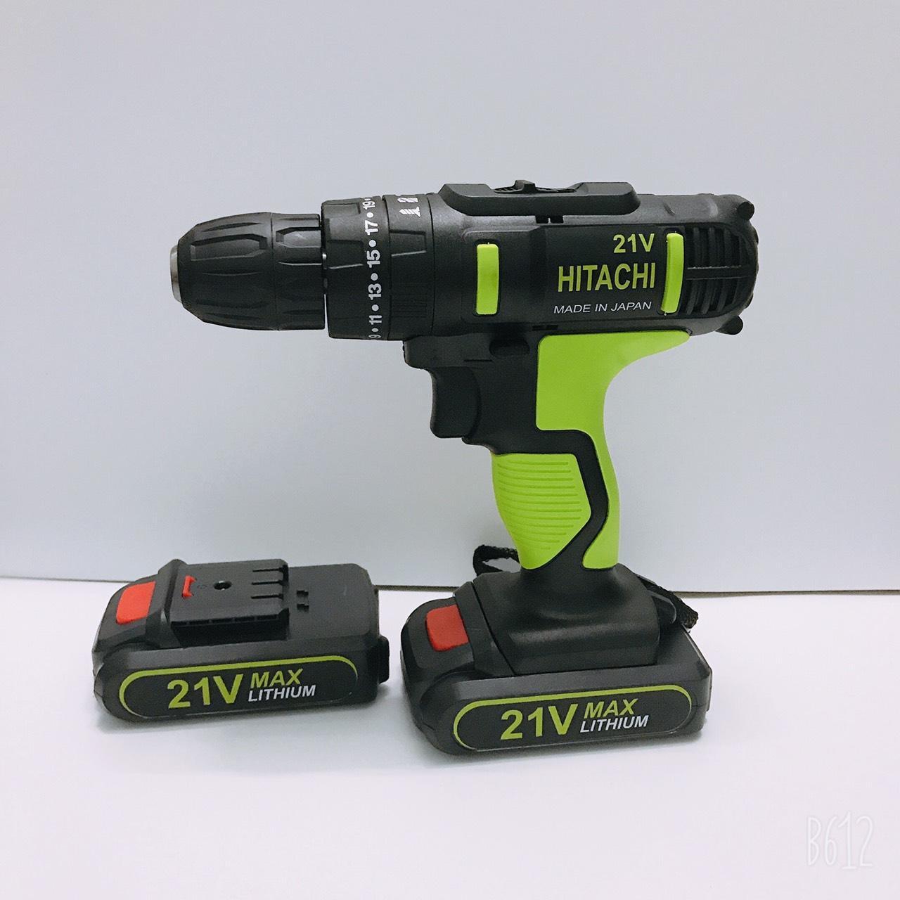 Máy khoan pin 21V Hitachi 3 chức năng có búa