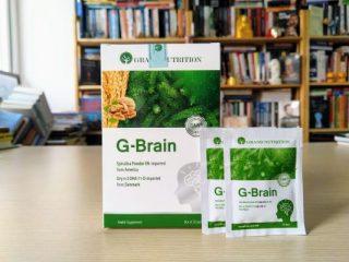 Cốm Trí Não G-Brain - bổ sung DHA, Vitamin hỗ trợ phát triển não bộ cho trẻ, tăng cường trí nhớ (Hộp 30 gói) thumbnail