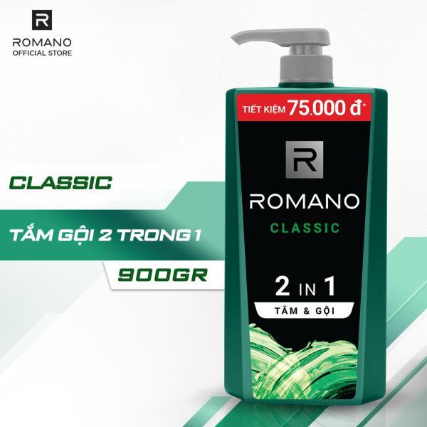 Tắm gội 2 trong 1 Romano Classic 900g