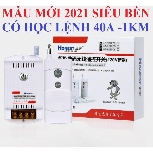 Công tắc điều khiển từ xa bật tắt máy bơm nước 40A/220V khoảng cách 1Km Honest 6220KDD và HT9220