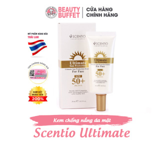 (Date T8.2021) Kem chống nắng da mặt Scentio Ultimate SPF 50+PA+++ 30ml thumbnail