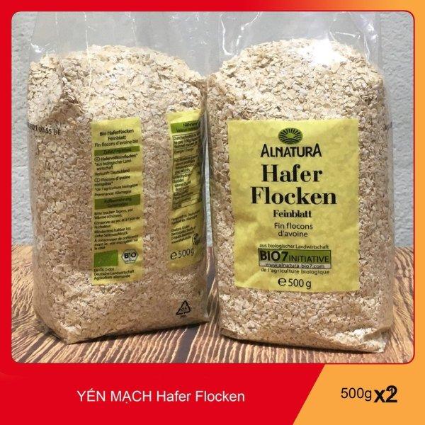 1KG Yến Mạch Hafer Flocken Bio Alnatura Đức Cán Vỡ.