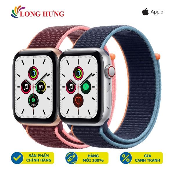 Đồng hồ thông minh Apple Watch SE GPS Cellular Aluminum Case Sport Loop - Hàng chính hãng - Đường kính mặt 44mm, Chống nước chuẩn quốc tế, Gia tốc kế, con quay hồi chuyển, la bàn
