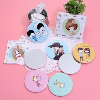 Combo 5 gương mini dễ thương Hàn Quốc, đồ dùng cho nữ, dụng cụ làm đẹp, phụ kiện trang điểm (GM01), Huy Linh thumbnail