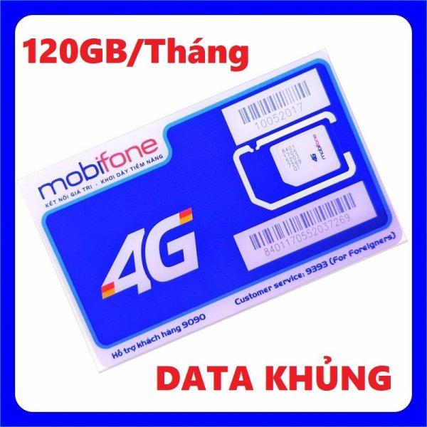 Sim 4G Mobifone C120N 120GB (4GB/ngày) gọi nội mạng không giới hạn - 120k/ tháng từ MƯỜNG THANH ROYAL