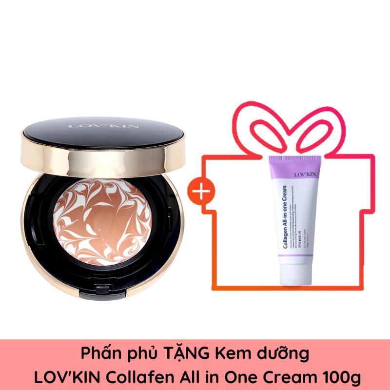 Phấn tươi Nén Tinh Thể Ngọc Trai  Lov'Kin Hàn Quốc Crystal Shine Pack 15g