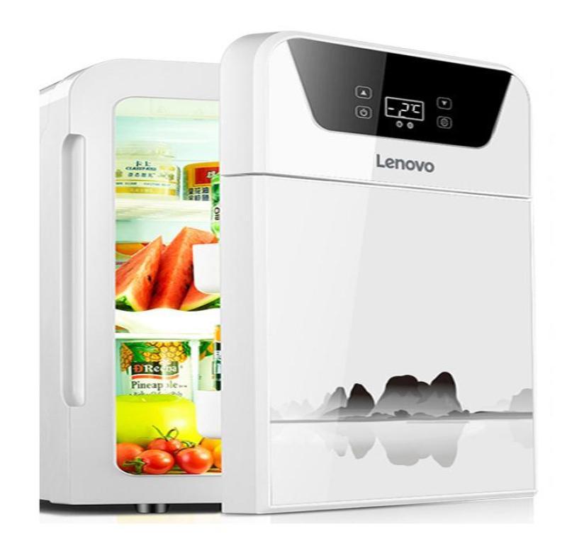 Tủ lạnh, mát mini có thể làm nóng LENOVO dùng trong nhà hoặc xe hơi, ô tô dung tích 22 lít, màn hình LED điều khiển cảm ứng - cao cấp