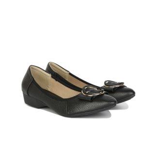 Giày Bít Xuồng Hạnh Dung HD2955AY ( Màu Đen - Kem - Vàng ) thumbnail