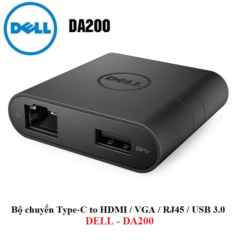 Bộ Chuyển Đổi Dell DA200 USB Type-C 1 Ra 4 Có Giá Cực Tốt