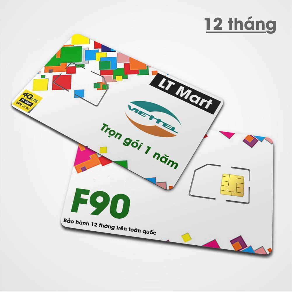 Giá [Free 12 tháng] Sim 4G 10 số F90. Miễn phí [cuộc gọi nội mạng + tin nhắn + 15 phút ngoại mạng + 5GB data tốc độ cao/tháng] từ LTmart.Trọn gói 1 năm.