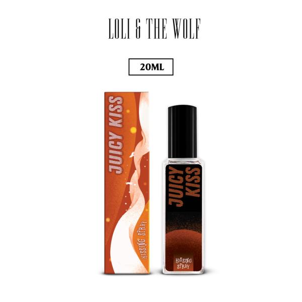 Xịt thơm miệng Kissing Spray hương Juicy Kiss vị Đào nhỏ gọn bỏ túi chai xịt thuỷ tinh 20ml - LOLI & THE WOLF