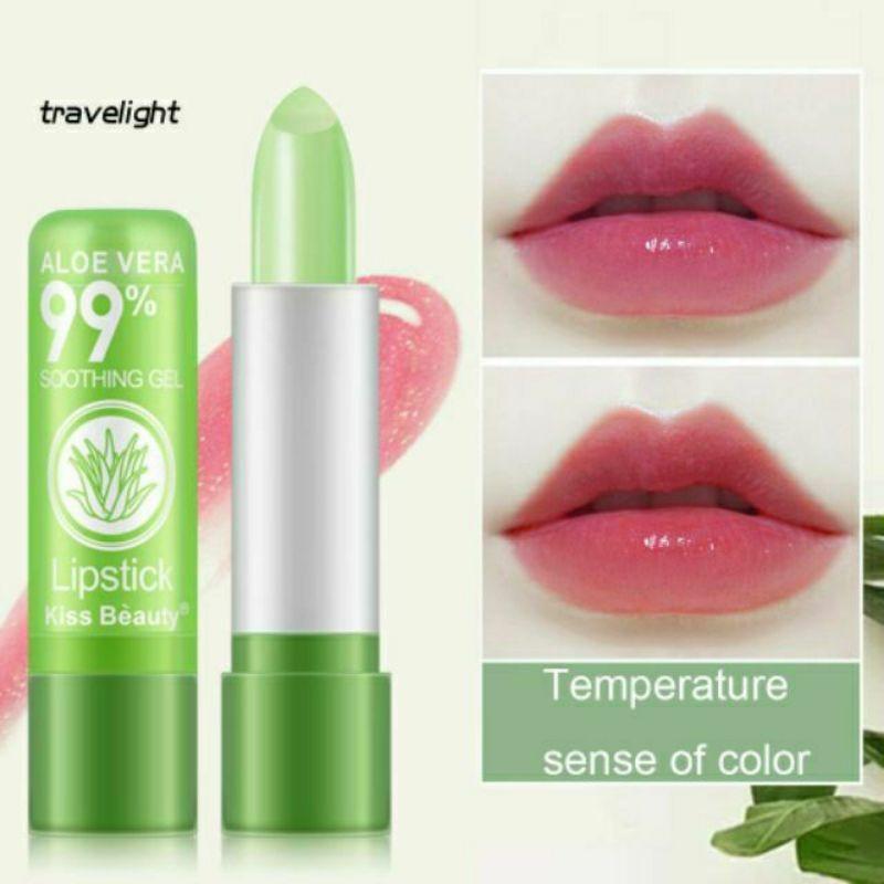 Son dưỡng môi chiết xuất lô hội aloe vera 99% vỏ xanh