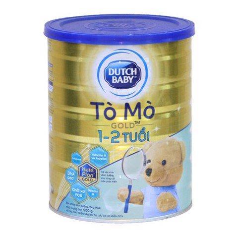 Sữa bột Dutch baby gold 1 đến 2 tuổi tò mò 900g