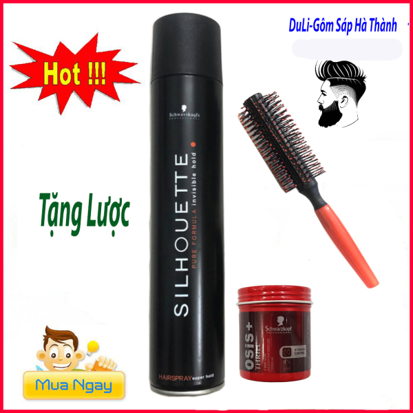 Keo xịt tóc shihouette 420ml tặng lược kèm sáp vuốt tóc osis thrill3 chuẩn salon giá rẻ