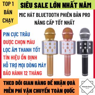 Micro Không Dây Karaoke Bluetooth Hát Siêu Hay Tín Hiệu Ổn Định Dùng Cho Mọi Dòng Điện Thoại Pin Trâu Có Thể Dùng Làm Loa Bluetooth, Micro Karaoke Bluetooth thumbnail
