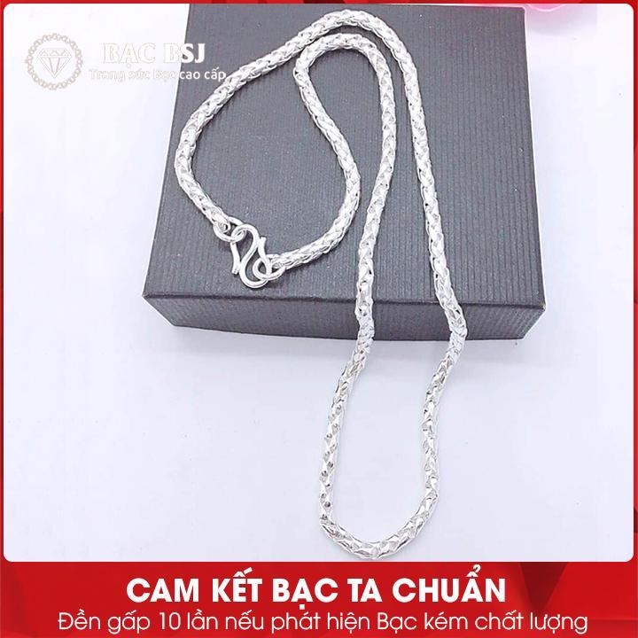 Giá bán Dây chuyền bạc, vòng cổ bạc cho trẻ từ 1-7 tuổi chất liệu Bạc ta cao cấp, Bạc BSJ - DCB01