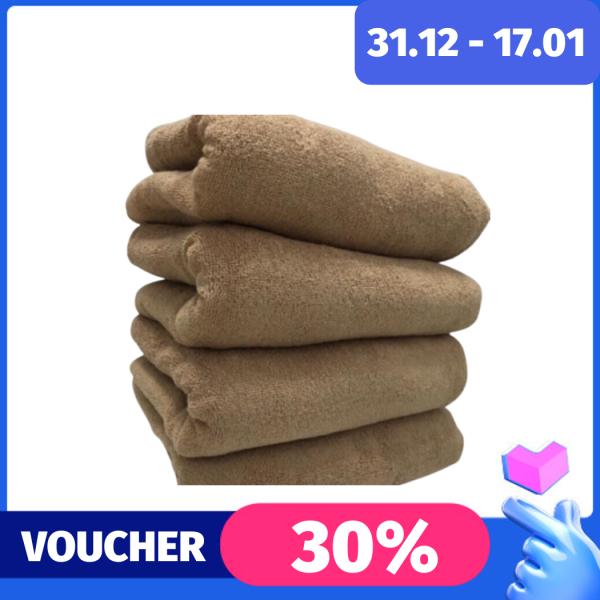 (500gr) Khăn tắm xuất Nhật màu nâu đất 500gram 70x140cm cotton siêu dày không phai màu mềm mại thấm hút nước tốt đường may tỉ mỉ chắc chắn