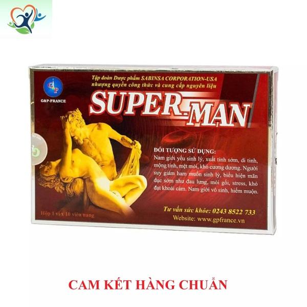 Bổ Thận-Superman - Tráng dương, tăng cường sinh lý ở nam giới. Tem đầy đủ (che tên sp khi giao hàng)