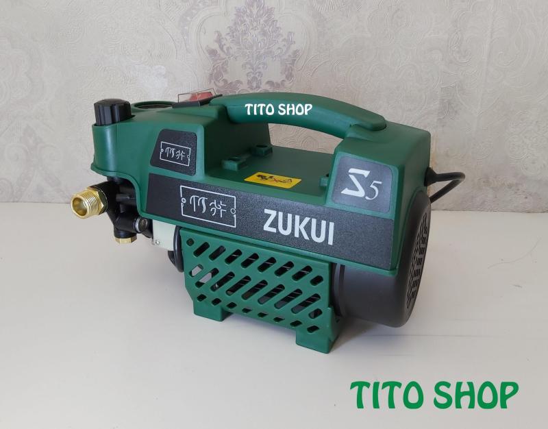 MÁY XỊT RỬA XE ZUKUI S5  – 2400W có chức năng chỉnh áp – Tặng kèm bình xà bông.