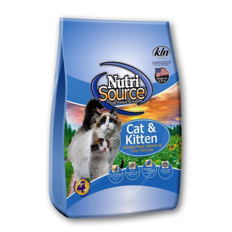 Thức ăn cho mèo và mèo con NutriSource Chicken, Salmon & Liver