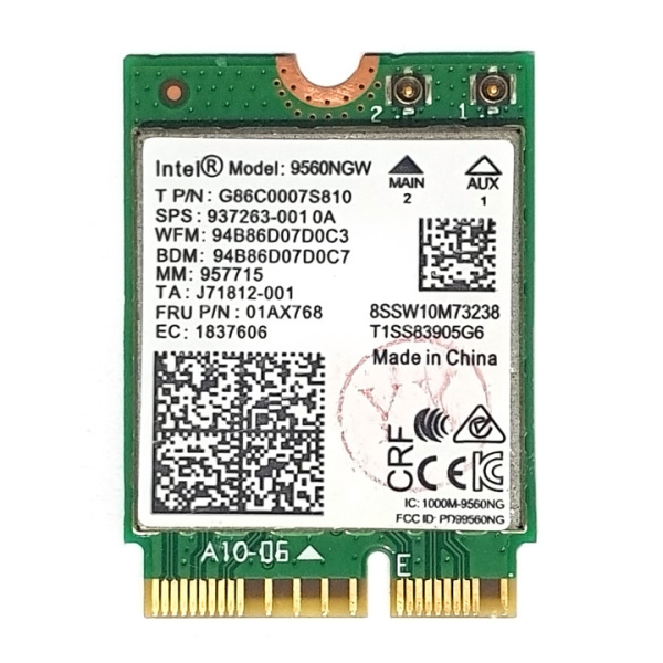 Bảng giá Card wifi chuẩn AC MU-MIMO 1.73Gbps tích hợp bluetooth 5.0 Intel 9560NGW Phong Vũ